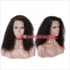 Tight curly 360 Lace Frontal Wig 180% Density Pre-Plucked Hairline 360 Lace Front Human Hair Wig curly Hair Wig for Black Women