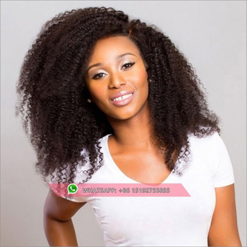 Top Quality Kinky Curly full lace human hair wigs for women ,Free shipping full lace wig  human hair For Black Women