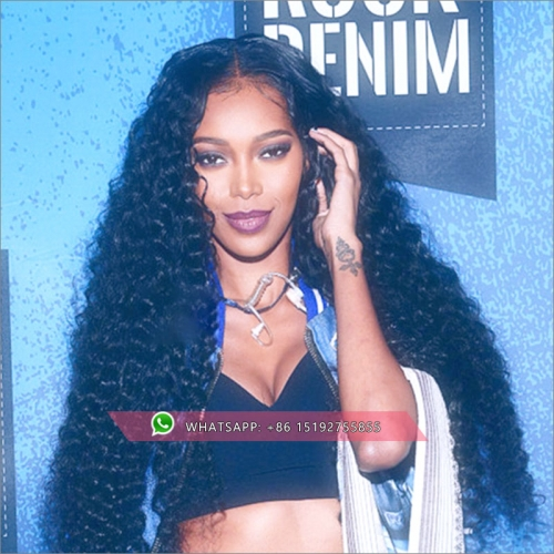 Brazilian Tight curly 360 Lace Frontal Wig 180% Density Pre-Plucked Hairline 360 Lace Front Human Hair Wig for Black Women