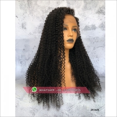 Brazilian Kinky curly 360 Lace Frontal Wig 180% Density Pre-Plucked Hairline 360 Lace Front Human Hair Wig for Black Women