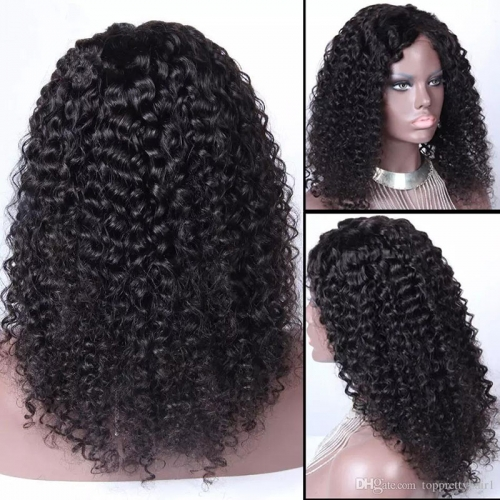 Top Quality Curly  Malaysian hair full lace wigs for black women ,Glueless Pre plucked full lace wig human hair With natural hairline