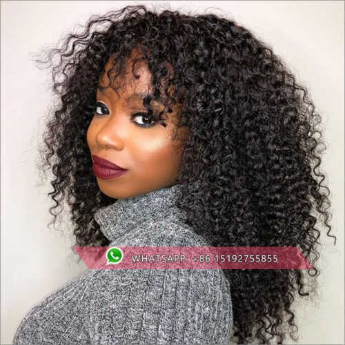Virgin Malaysian hair Tight curly full lace wigs human hair Glueless ,Pre plucked  human hair wig full lace With natural hairline