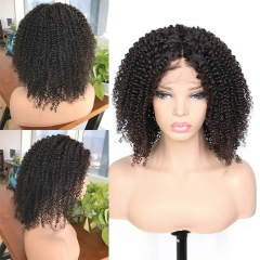 100% human hair 130% density  brazilian Kinky Curly full lace wigs with baby hair ,Glueless human hair lace wig Pre plucked