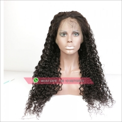 100% human hair loose Curly full lace wigs with baby hair ,Glueless  lace wig 130% density  brazilian Pre plucked