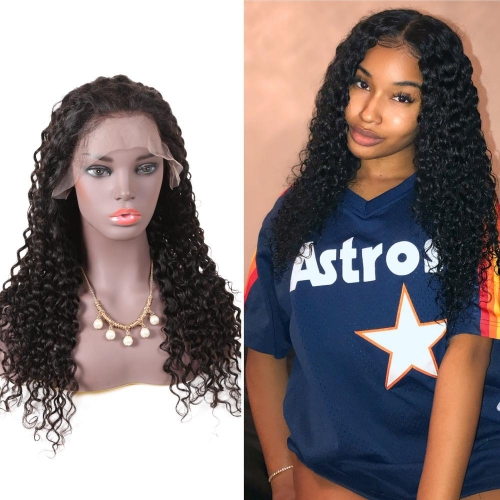 100% virgin Brazilian lace front human hair wig with bangs,13x6 ,13x4 inches front lace wigs human hair free curly