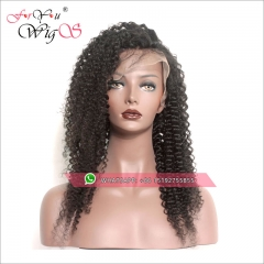 Factory direct sell kinky curly lace front wigs brazilian hair,virgin remy hair lace front human hair wigs pre plucked,13x6inches,13x4inches