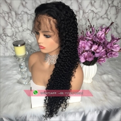 100% human hair curly full lace wigs with baby hair ,Glueless  lace wig 130% density  brazilian Pre plucked