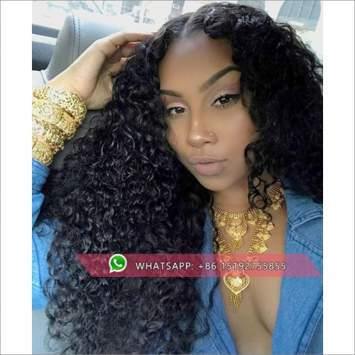 100% human hair Curly lace front wigs for black women,brazilian hair lace front human hair wigs pre plucked,13x6inches,13x4inch