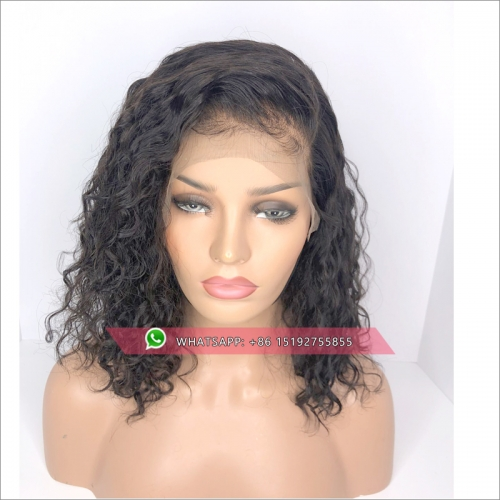 Deep Part Lace Front Human Hair Wigs For Black Women Water Wave Pre Plucked Peruvian Remy Hair Lace Wig With Baby Hair