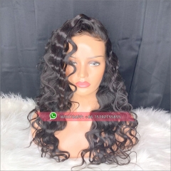 Glueless Full Lace Wigs deep Body Wave 130 Density Pre Plucked Full Lace Human Hair Wigs For Women Black With Baby Hair Virgin Wig