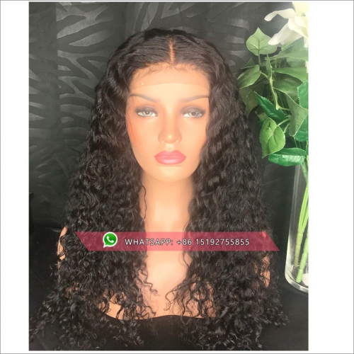 Heavy density  Lace Front Human Hair Wig with Baby Hair Jerry Curly Glueless Wigs Brazilian Remy Hair Pre-Plucked Hairline