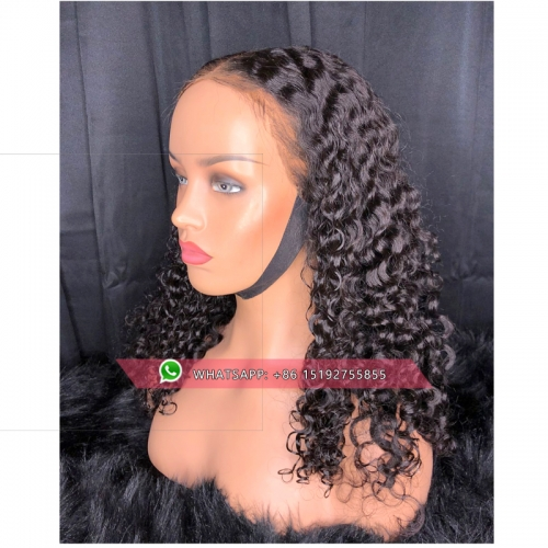 Preplucked 13x6 Deep Part Lace Front Curly Human Hair Wigs Full Ends Wet And Wavy Wave Peruvian Virgin Hair Wigs For Women Black