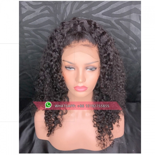 Malaysian Human Hair Wig curly  360 Lace Front Human Hair Wigs Full Density Average Size 360 Lace Frontal Wig For Black Women