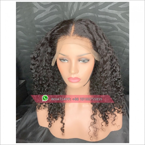 Brazilian Lace Front Curly Wig Human Hair With Baby Hair 300% Density 13*4 Lace Wig Remy Hair Pre Plucked