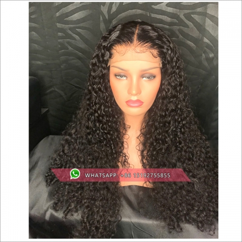Long Curly Hair  African American Hairstyle  100% humanr Hair Wigs For Woman Black Natual