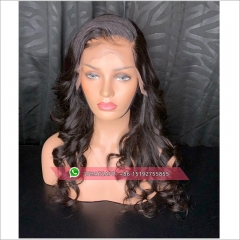 top quality loose wave  Full Lace Human Hair Wigs Pre Plucked With Baby Hair Glueless Full Lace Wig Bleached Knots Brazilian Remy Hair