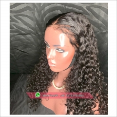 Deep Curly Lace  Human Hair Wigs For Women 130% Density Brazilian Hair full lace  Wig Pre Plucked hairline