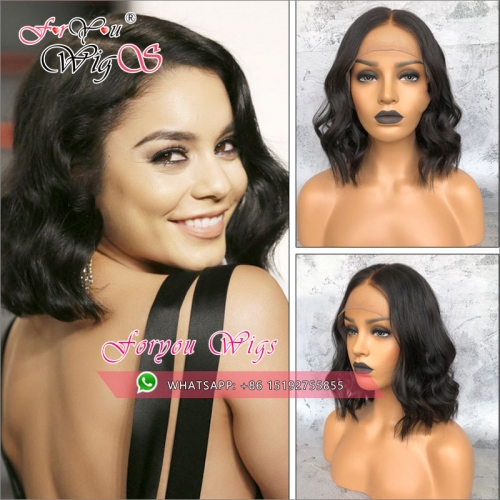 TOP quality 100% Human hair 13x6 Lace Front Human Hair bob Wigs 130% Density,150% density,Brazilian Natural Wave full lace bob wigs