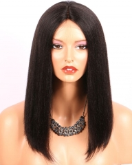 Top quality brazilian hair light yaki lace front short hair bob Wigs pre plucked 130% ,150% density,glueless full lace bob wigs pre plucked