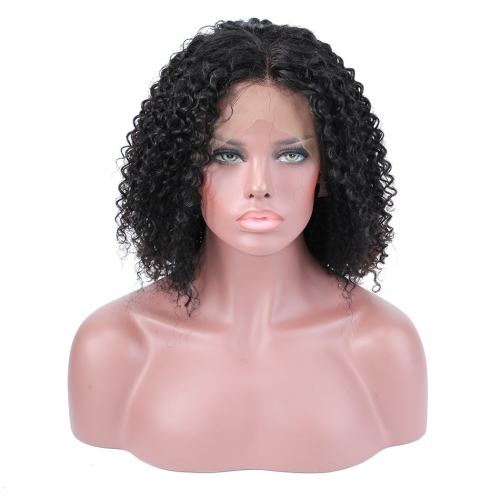 Top quality brazilian hair lace front short hair bob Wigs pre plucked 130% ,150% density, Tight curly full lace bob wigs pre plucked