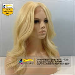 10 A Full Lace Human Hair Wigs Blonde 613/60/27  Brazilian Virgin Hair  natural wave  full lace Human Hair Wigs for Black/White Women