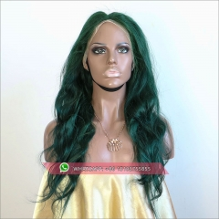 Top quality Full Lace Human Hair Wigs Green  Brazilian Remy Hair Full Lace Wigs With Baby Hair Pre Plucked
