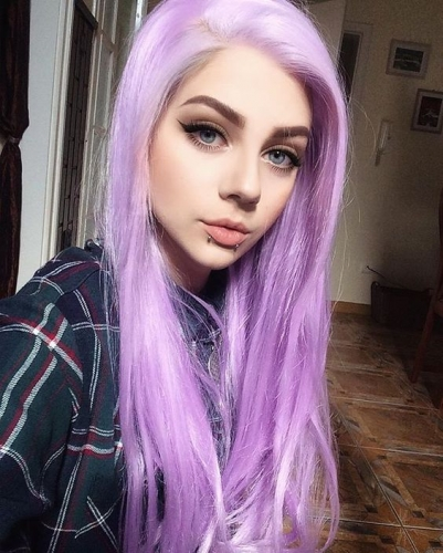 Fashion Silky Straight Full Lace Human Hair Wigs Purple Full Lace Wigs With Baby Hair Pre Plucked
