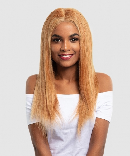Fashion Silky Straight Full Lace Human Hair Wigs #27 lace front Wigs With Baby Hair Pre Plucked