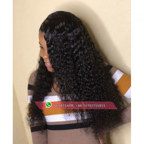Top quality curly full lace Human Hair Wigs For Women Black,  Brazilian Lace Wig pre Plucked