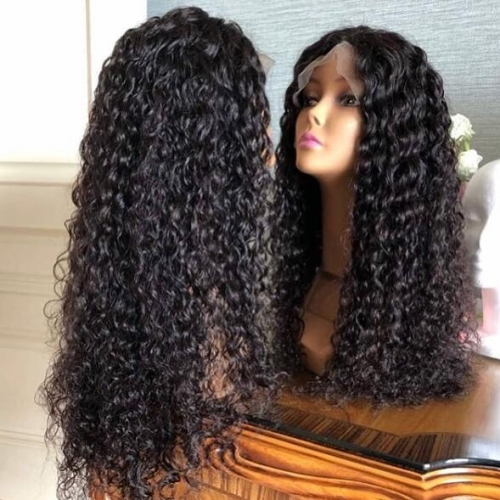 Top Quality  curly malaysian full lace Human Hair Wigs For black women,  100% human hair Lace Wig Pre Plucked.