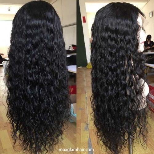 Top Quality loose curly malaysian full lace Human Hair Wigs For black women,  100% human hair glueless Lace Wig Pre Plucked.