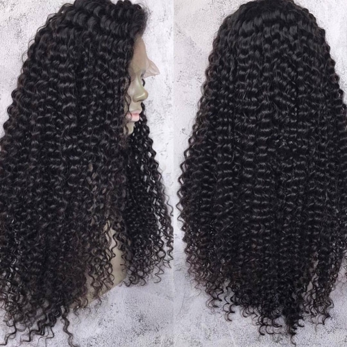 Brazilian Kinky Curly Lace  Human Hair Wigs 360 For Black Women Remy Hair Lace 360 Wig Pre Plucked