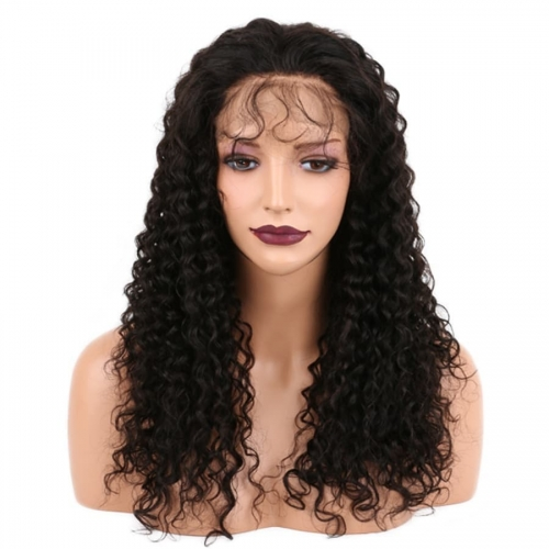 Top Quality Brazilian tight curly Human Hair  lace Wigs 360 For Black Women Remy Hair Lace 360 Wig Pre Plucked